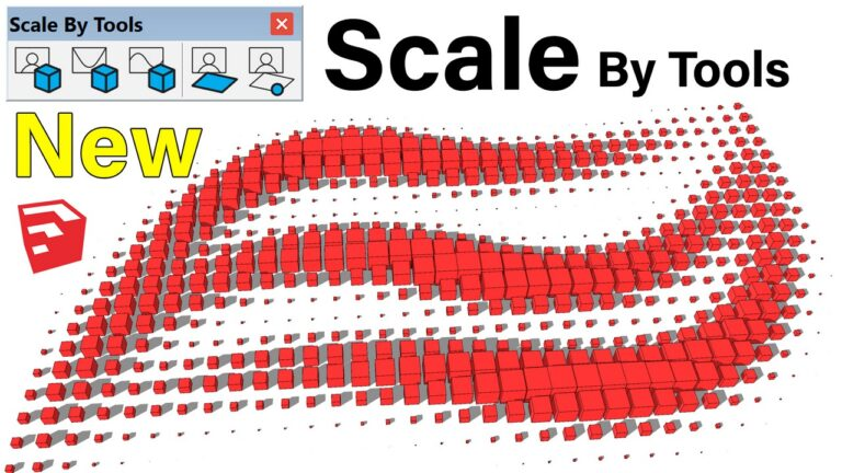 New Plugin Scale By Tools For SketchUp