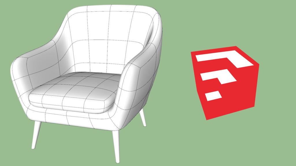 Club Chair Modeling in SketchUp