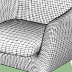 Club Chair Modeling in SketchUp TutorialsUp (2)