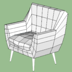 Club Chair Modeling in SketchUp TutorialsUp (3)