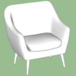 Club Chair Modeling in SketchUp TutorialsUp (4)