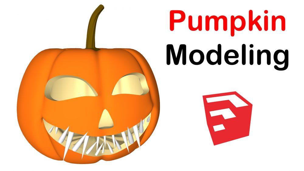 Halloween Pumpkin Modeling in SketchUp