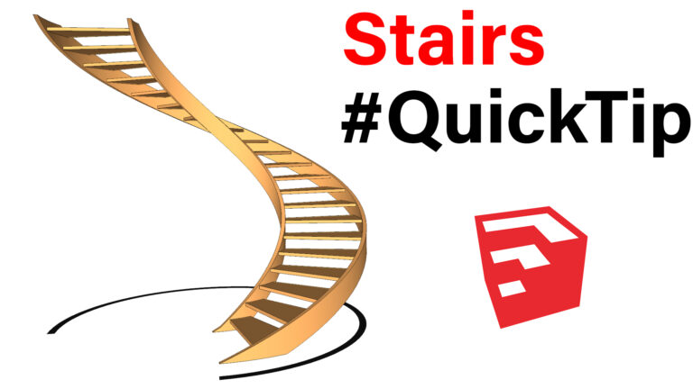 How To Quickly Bend Stairs In SketchUp