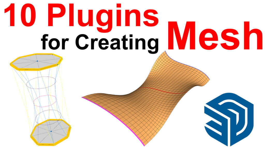 10 Plugins for Creating Mesh from Edges Curves and C-Points