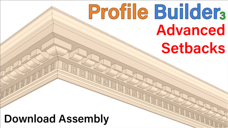 Profile Builder – Advanced Setbacks in Assembly Part 3 – SketchUp Plugin