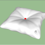 Rectangle Button Cushion 3D Modeling In SketchUp (3)