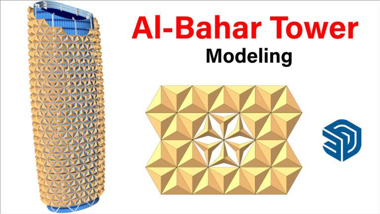 Al-Bahar Tower Modeling in SketchUp