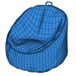 Bean Bag Chair Modeling In SketchUp (1)