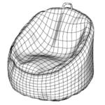 Bean Bag Chair Modeling In SketchUp (4)