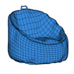 Bean Bag Chair Modeling In SketchUp (5)